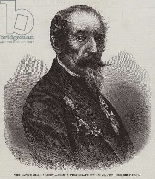 The late Horace Vernet (engraving)
