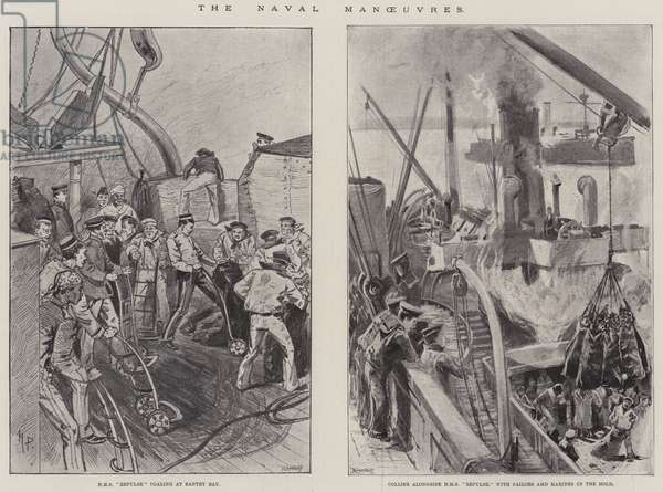 The Naval Manoeuvres (litho)