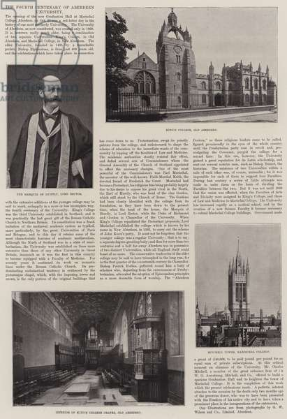 The Fourth Centenary of Aberdeen University (b/w photo)