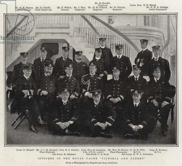 "Officers of the Royal Yacht ""Victoria and Albert"" (b/w photo)"