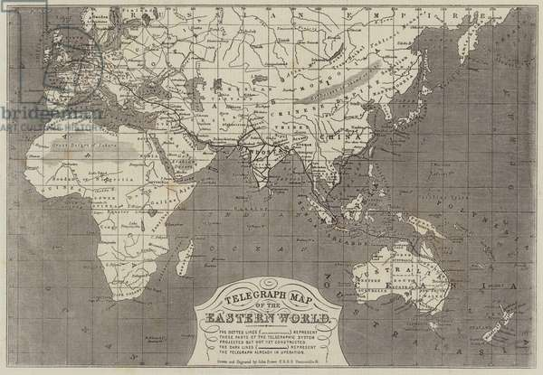 Telegraph Map of the Eastern World (engraving)