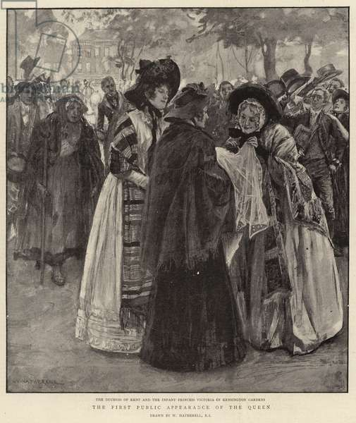 The First Public Appearance of the Queen (litho)