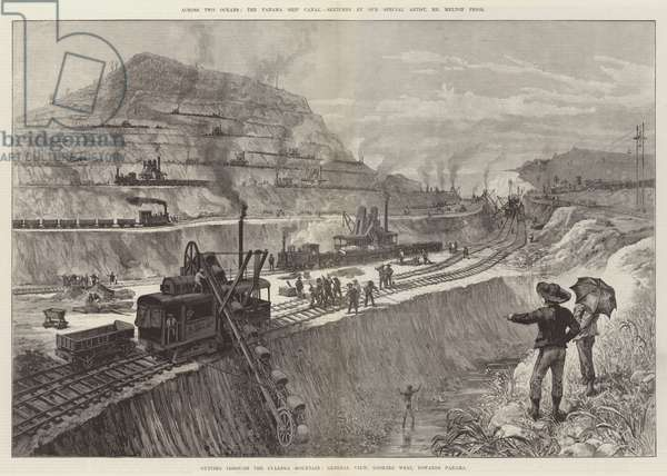 Across Two Oceans, the Panama Ship Canal (engraving)