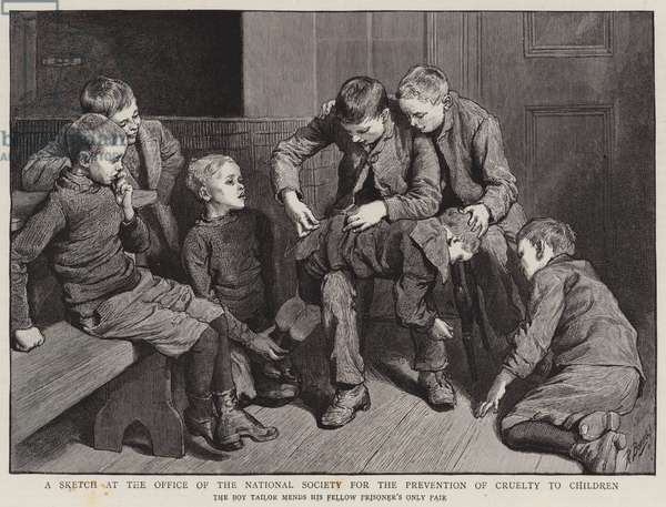A Sketch at the Office of the National Society for the Prevention of Cruelty to Children (engraving)
