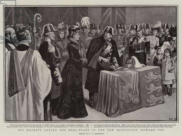 His Majesty laying the Keel-Plate of the New Battleship