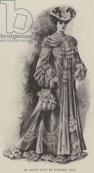 An Ascot Coat in Tussore Silk (litho)
