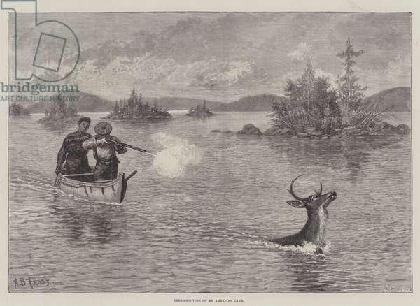 Deer-Shooting on an American Lake (engraving)