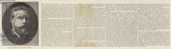 L Alma Tadema, RA (engraving)