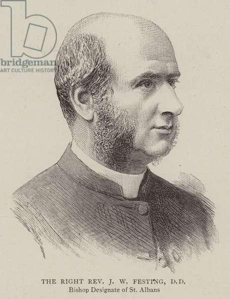 The Right Reverend J W Festing, DD (engraving)