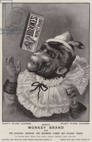 Advertisement, Monkey Brand Soap (engraving)