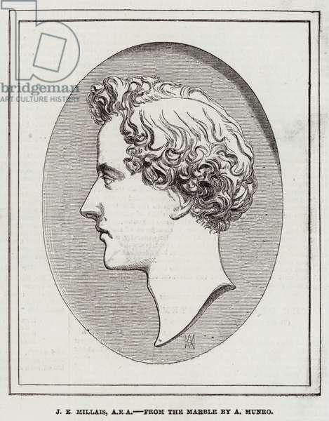 J E Millais, ARA (engraving)