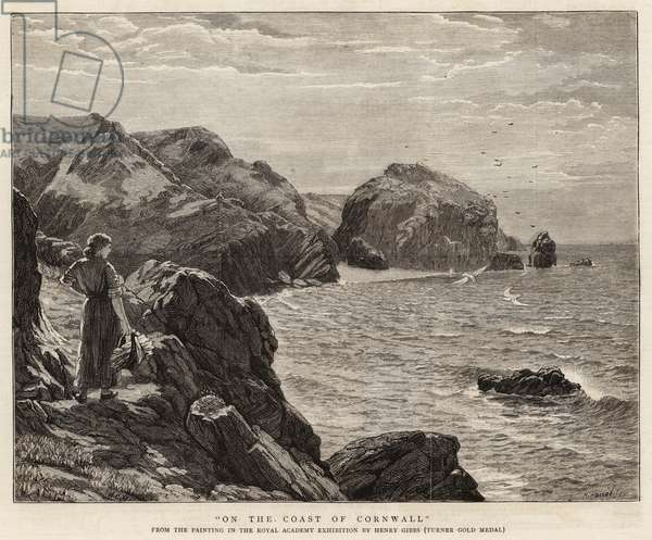 On the Coast of Cornwall (engraving)