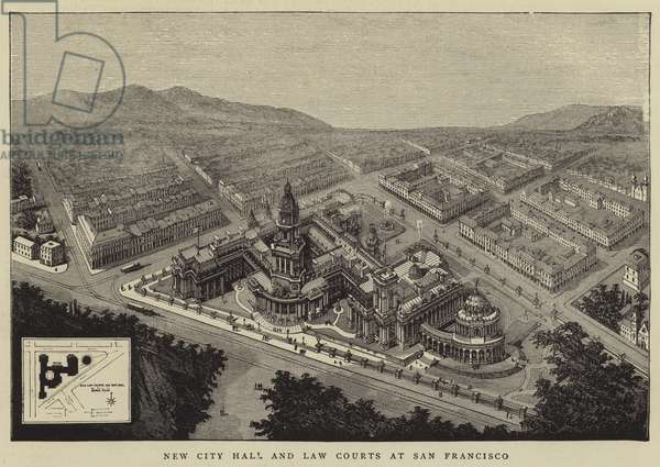 New City Hall and Law Courts at San Francisco (engraving)