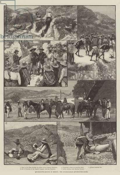 Quicksilver-Mining in Mexico, the Guadalcazar Quicksilver-Mines (engraving)