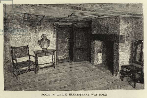 Room in which Shakespeare was Born (engraving)