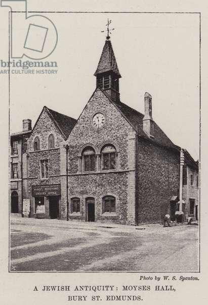 A Jewish Antiquity, Moyses Hall, Bury St Edmunds (b/w photo)