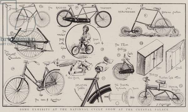 Some Exhibits at the National Cycle Show at the Crystal Palace (engraving)