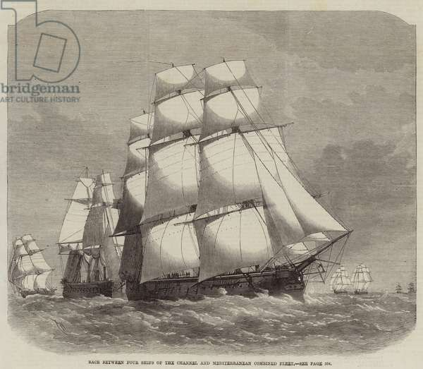 Race between Four Ships of the Channel and Mediterranean Combined Fleet (engraving)
