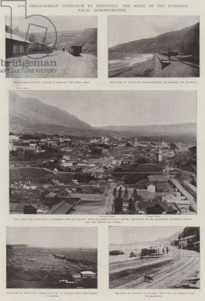 The Anglo-German Ultimatum to Venezuela, the Scene of the Combined Naval Demonstration (b/w photo)