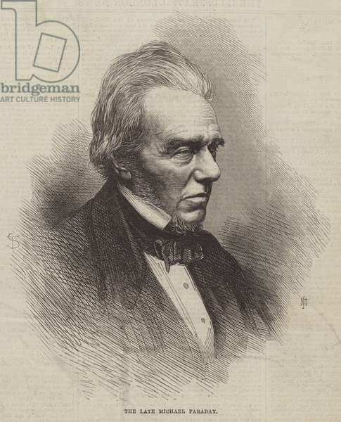 The late Michael Faraday (engraving)