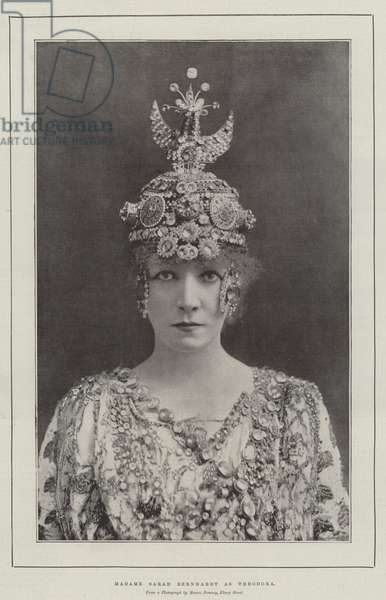 Madame Sarah Bernhardt as Theodora (b/w photo)