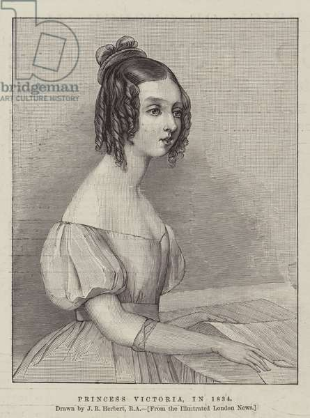 Princess Victoria, in 1834 (engraving)