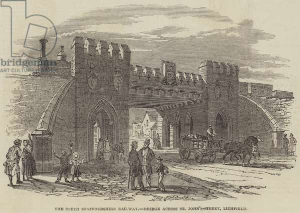 The South Staffordshire Railway, Bridge across St John's-Street, Lichfield (engraving)