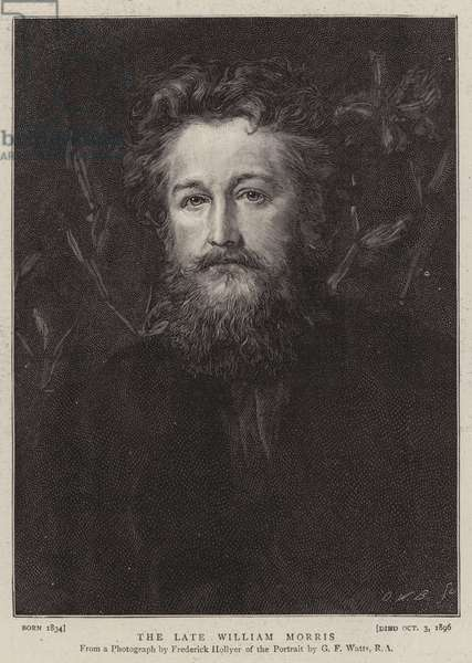 The Late William Morris (engraving)