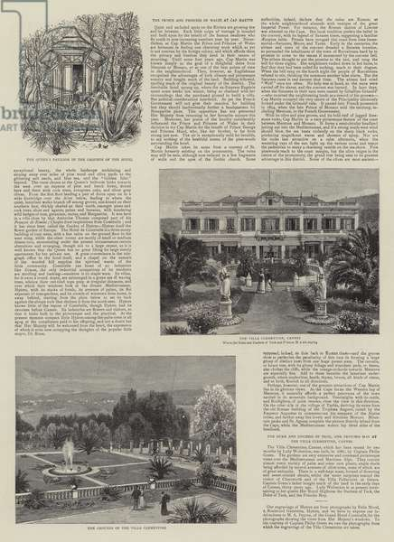 Royalty in the South of France, Views of Hyeres and Hotel Costebelle, the Residence of the Queen (engraving)