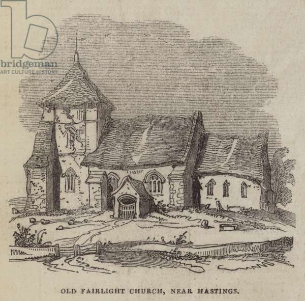 Old Fairlight Church, near Hastings (engraving)