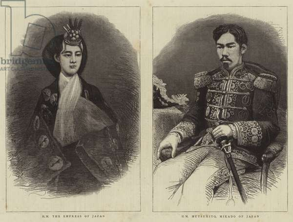 The Mikado and Empress of Japan (engraving)