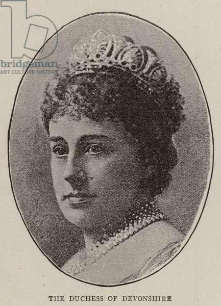 The Duchess of Devonshire (b/w photo)