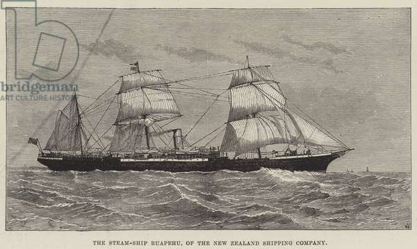 The Steam-Ship Ruapehu, of the New Zealand Shipping Company (engraving)