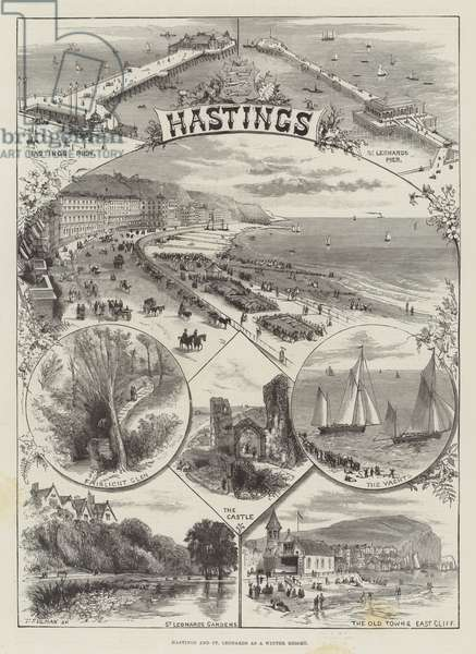 Hastings and St Leonards as a Winter Resort (engraving)