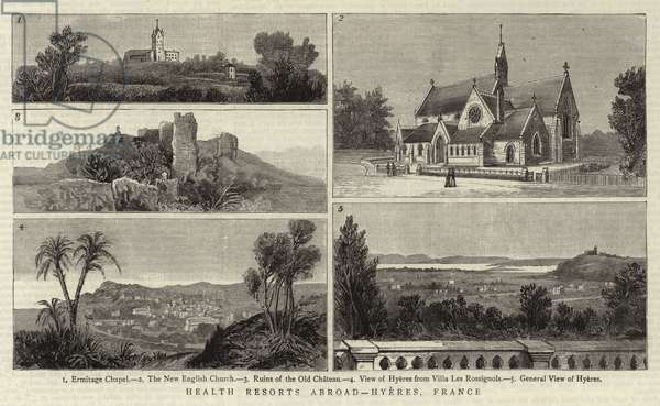 Health Resorts Abroad, Hyeres, France (engraving)