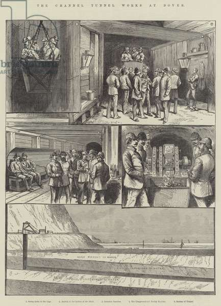 The Channel Tunnel Works at Dover (engraving)