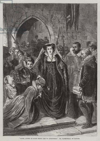 Mary, Queen of Scots being led to Execution (engraving)