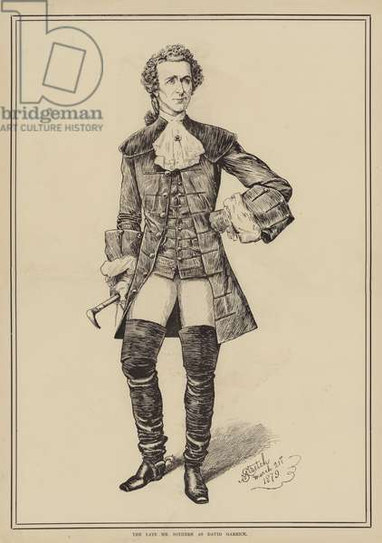 The late Mr Sothern as David Garrick (engraving)
