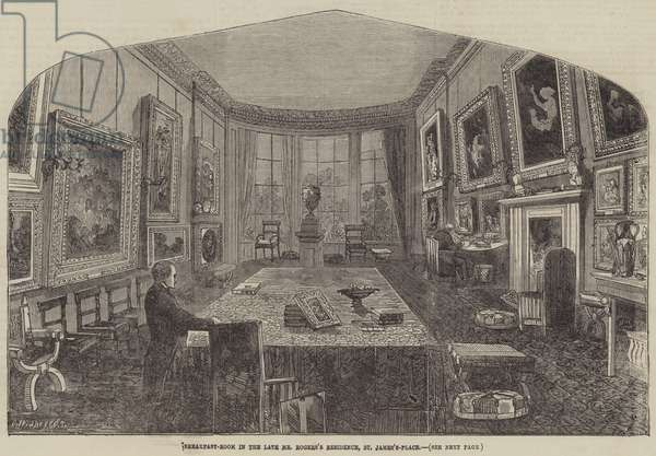 Breakfast-Room in the late Mr Rogers's Residence, St James's-Place (engraving)