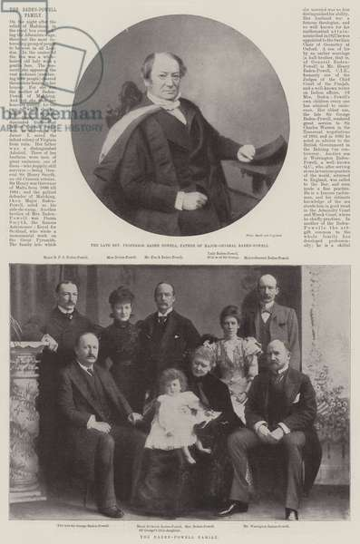 The Baden-Powell Family (b/w photo)