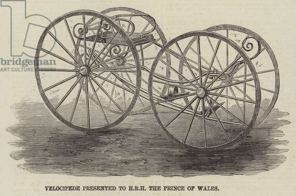 Velocipede presented to HRH the Prince of Wales (engraving)