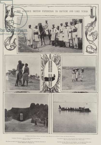 The Overdue British Expedition to Bautchi and Lake Tchad (engraving)