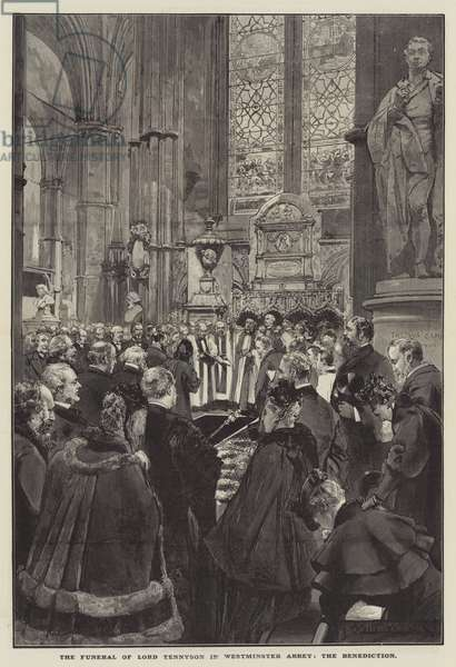 The Funeral of Lord Tennyson in Westminster Abbey, the Benediction (engraving)