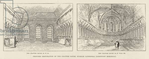 Proposed Restoration of the Chapter House, Durham Cathedral (Lightfoot Memorial) (engraving)