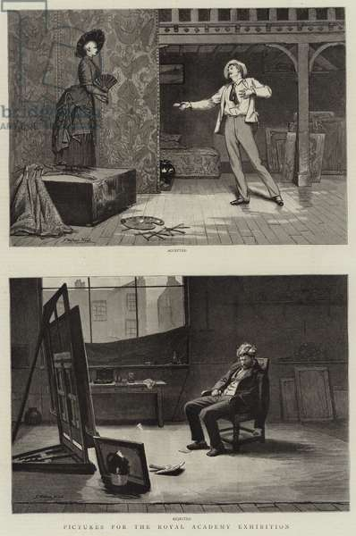 Pictures for the Royal Academy Exhibition (engraving)