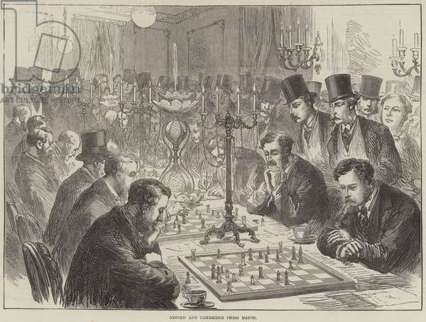 Oxford and Cambridge Chess Match (engraving)