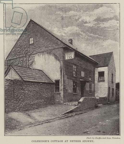 Coleridge's Cottage at Nether Stowey (b/w photo)