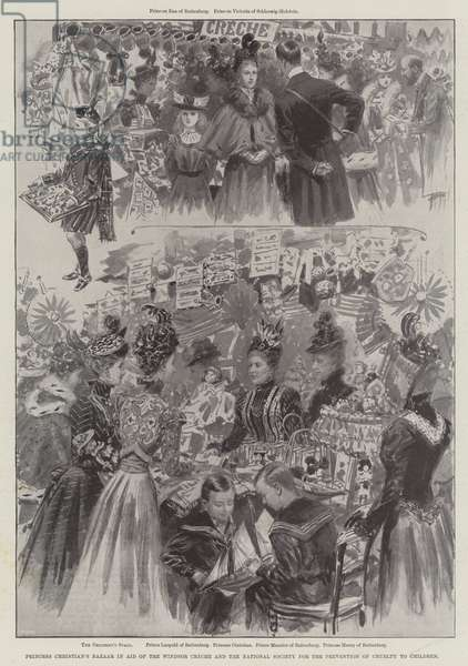 Princess Christian's Bazaar in Aid of the Windsor Creche and the National Society for the Prevention of Cruelty to Children (engraving)