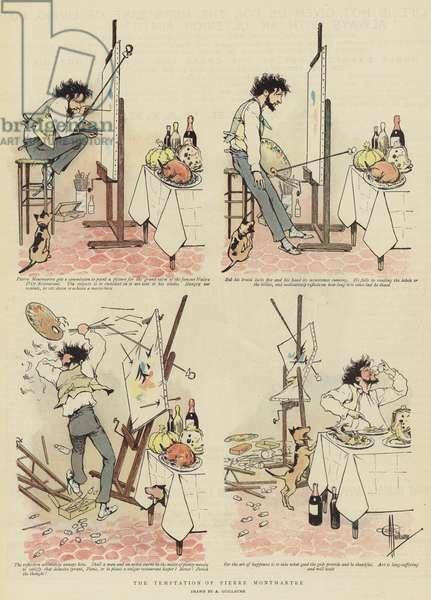 The Temptation of Pierre Montmartre (chromolitho)