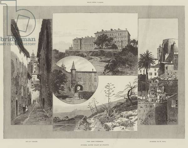 Hyeres, South Coast of France (engraving)